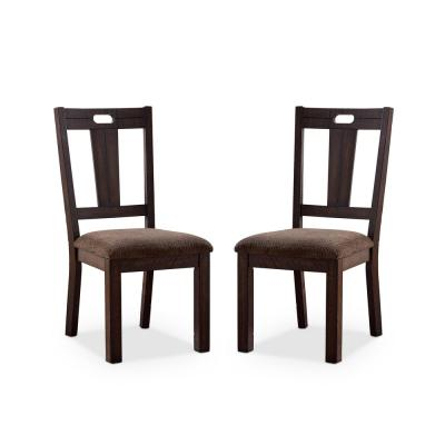 Hawthorne Walnut and Ash Brown Side Chairs (Set of 2)