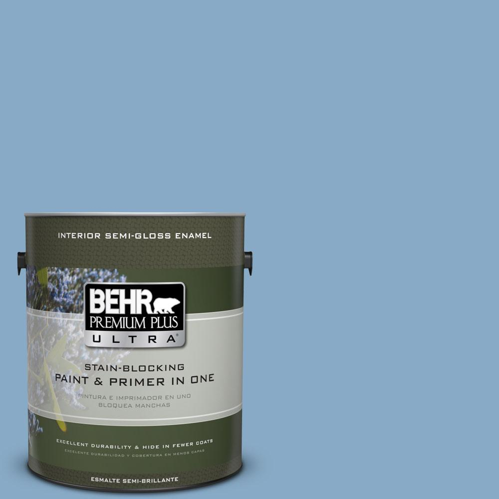 BEHR Premium Plus Ultra 1-gal. #570D-4 Colorado Springs Semi-Gloss Enamel Interior Paint