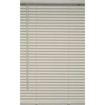 White 1 in. Cordless Vinyl Blind - 23 in. W x 64 in. L