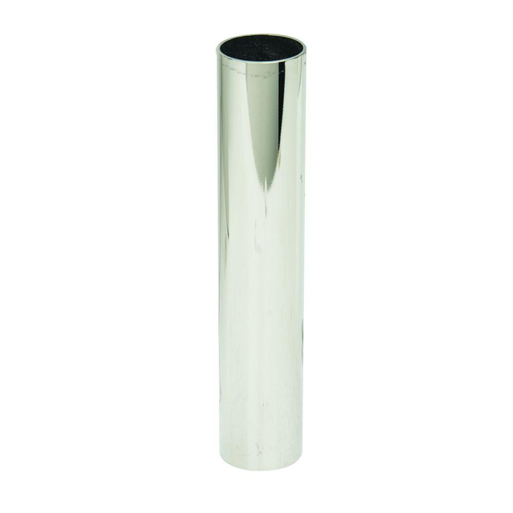 BrassCraft 1/2 in. Nominal Copper Cover Tube in Polished Nickel