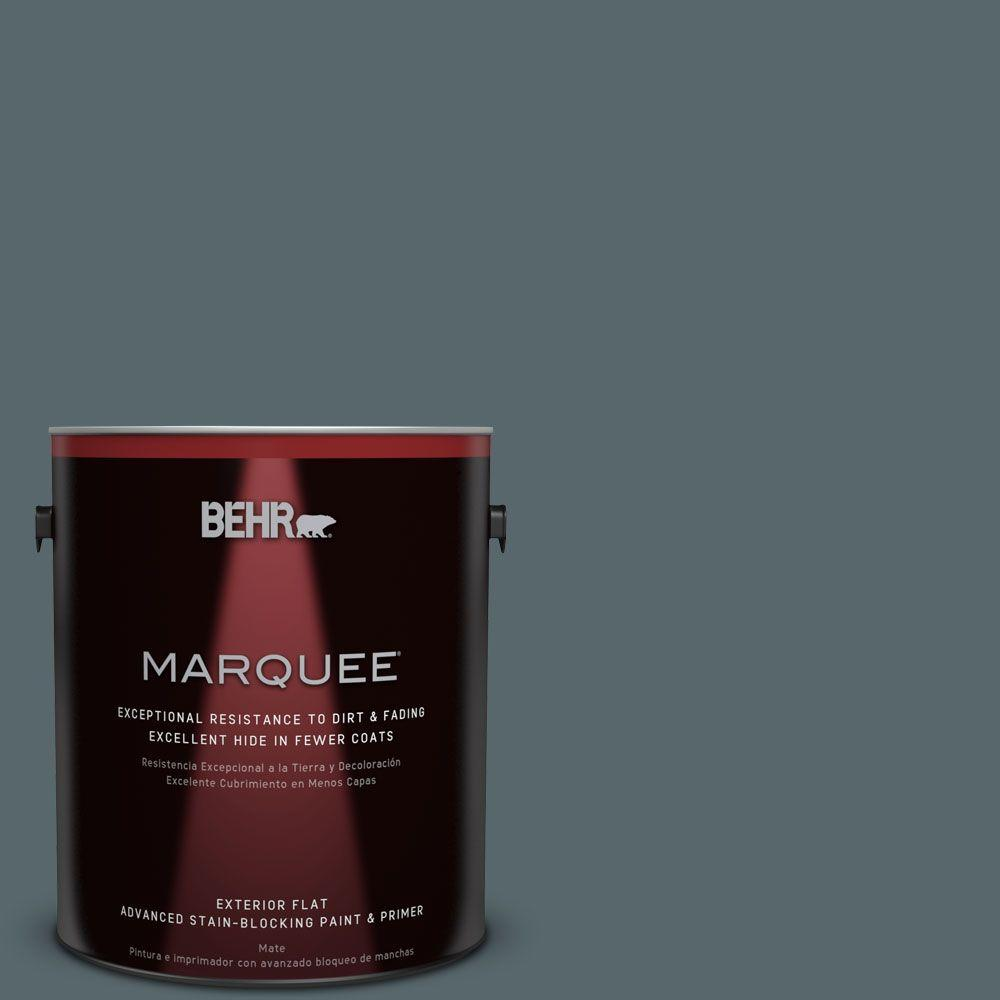 1-gal. #N470-6 Whale Gray Flat Exterior Paint