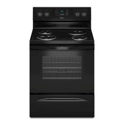 4.8 cu. ft. Freestanding Electric Range Oven in Black, Counter Depth