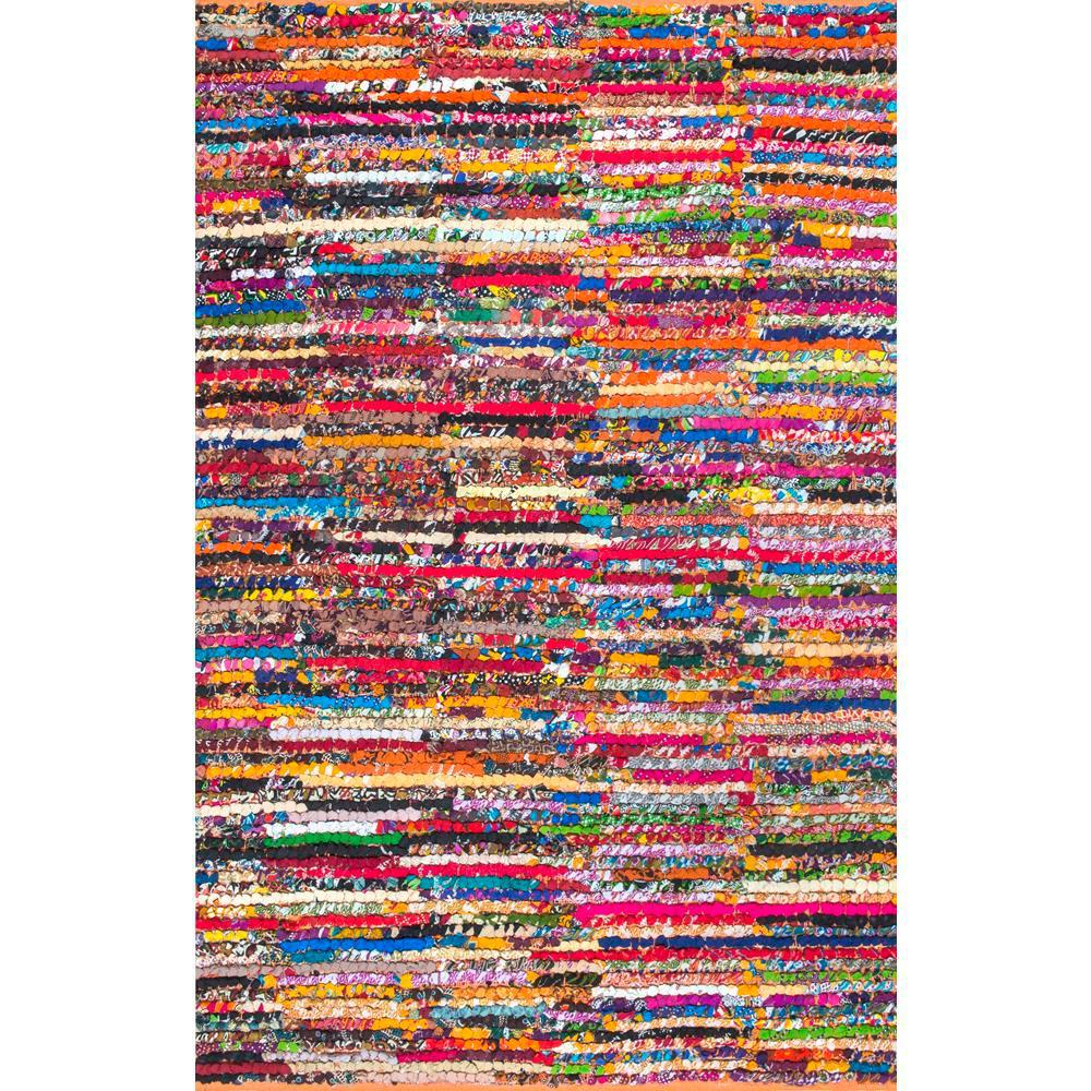Chindi Cotton Michiko Multi 8 ft. x 10 ft. Area Rug