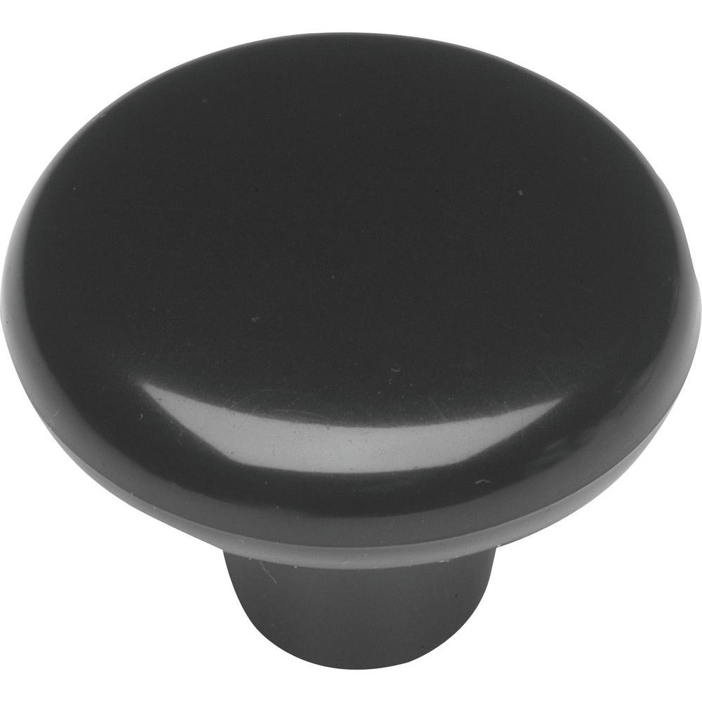 Midway 1-1/2 in. Black Cabinet Knob