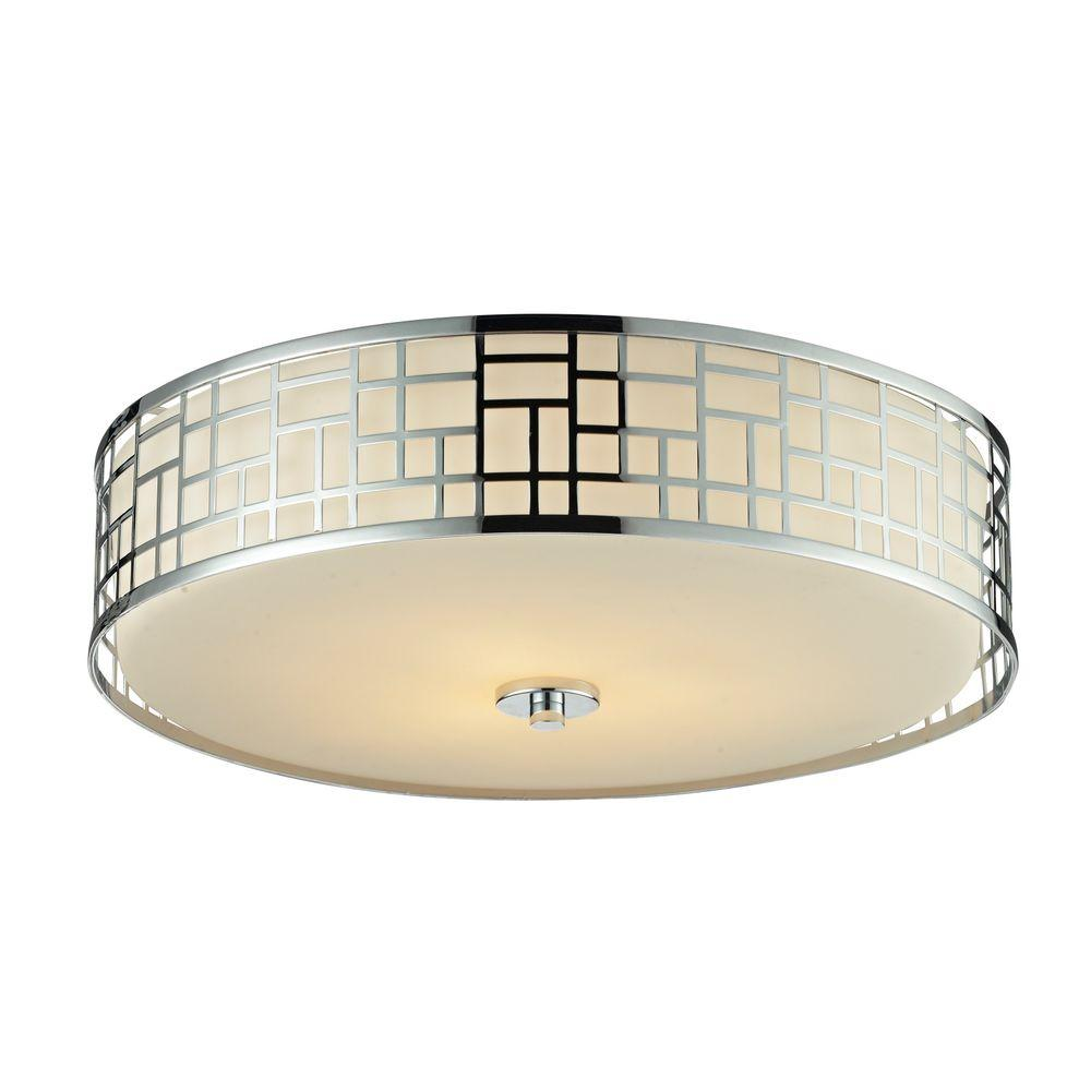 Filament Design Velia 3-Light Chrome Flush Mount