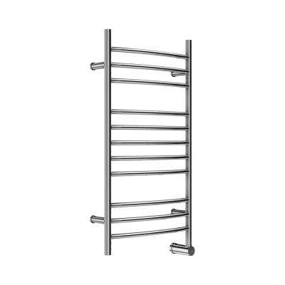 11-Bar Wall Mounted Electric Towel Warmer with Digital Timer in Stainless Steel Polished