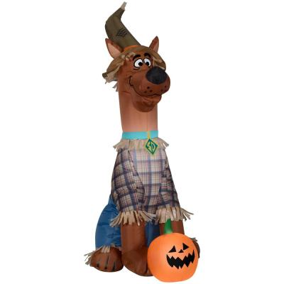 3.5 ft. H Inflatable Airblown-Scooby as Scarecrow-SM-WB