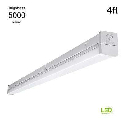 High Output Linkable  4 ft. White Integrated LED Strip Light (Direct Wire Powered & Plug In, Multivolt)