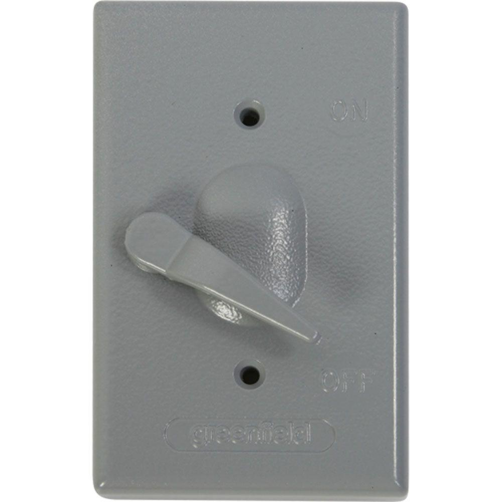 Weatherproof Electrical Box Lever Switch Cover - Gray