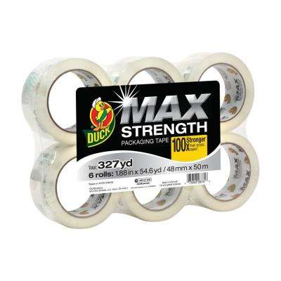 MAX Strength 1.88 in. x 54.6 yd. Packaging Tape (6-Pack)