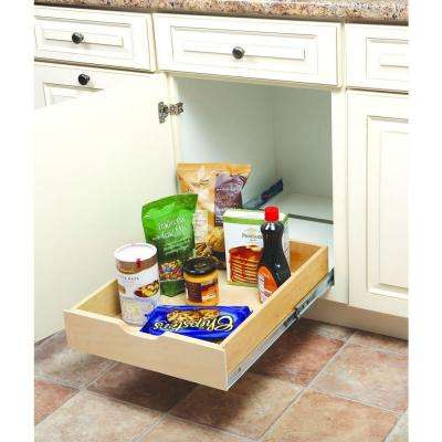 5 in. H x 14.88 in. W x 22 in. D Soft-Close Wood Drawer Box Pull-Out Cabinet Organizer