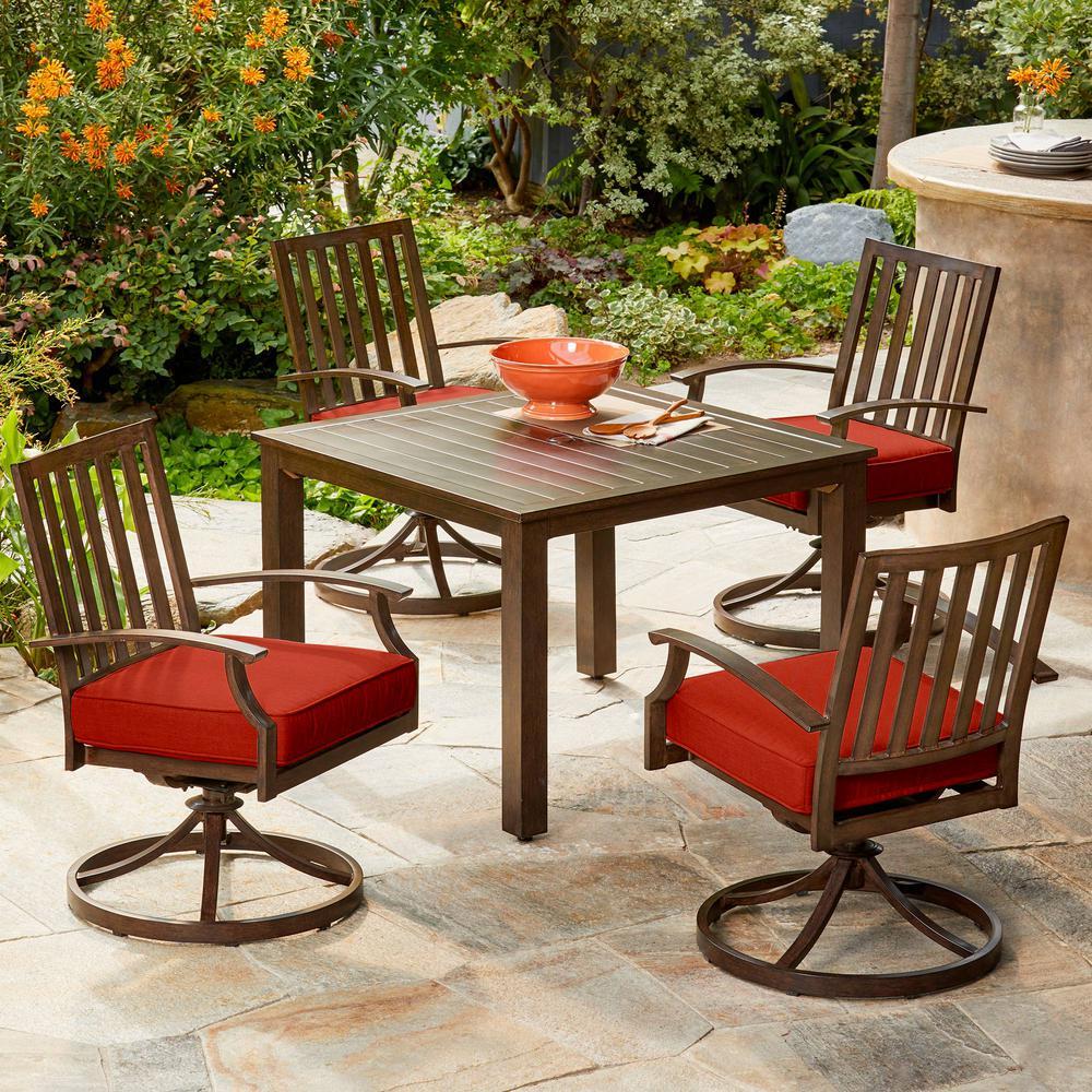 Royal Garden Bridgeport 5-Piece Metal Motion Outdoor Dining Set with ...