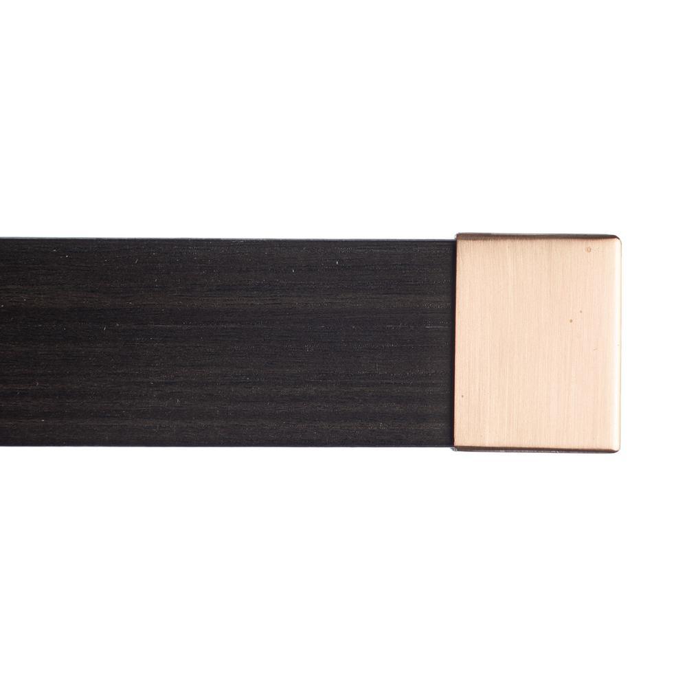 Art Decor Kontur Wood 84 In Non Adjustable Single Traverse Window Curtain Rod Set In Chocolate With Sahara Endcap I 04 0072 Cl Sh The Home Depot