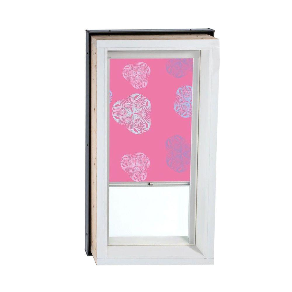 VELUX Nature Pink Manually Operated Blackout Skylight Blinds for FCM/QPF 2222 Models