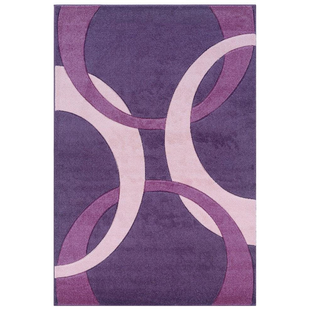 linon home decor corfu collection purple and baby pink 8