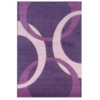Corfu Collection Purple and Baby Pink 8 ft. x 10 ft. Indoor Area Rug