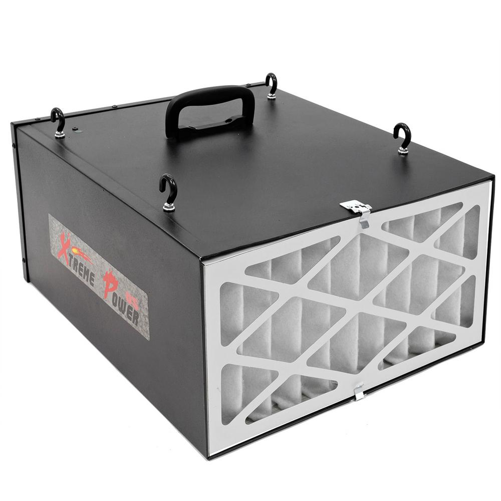 XtremepowerUS - 3-Speed Remote-Controlled Industrial-Strength Air Filtration System (300/350/400 CFM)