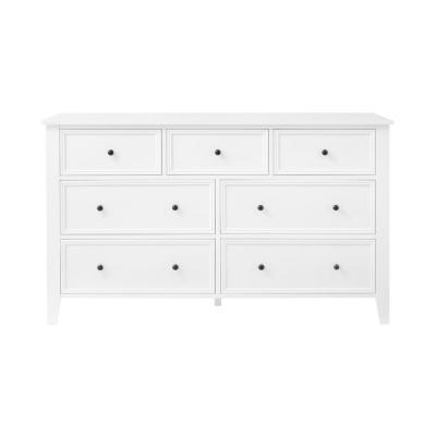Rigby White Wood 7 Drawer Dresser (54.5 in W. X 33 in H.)