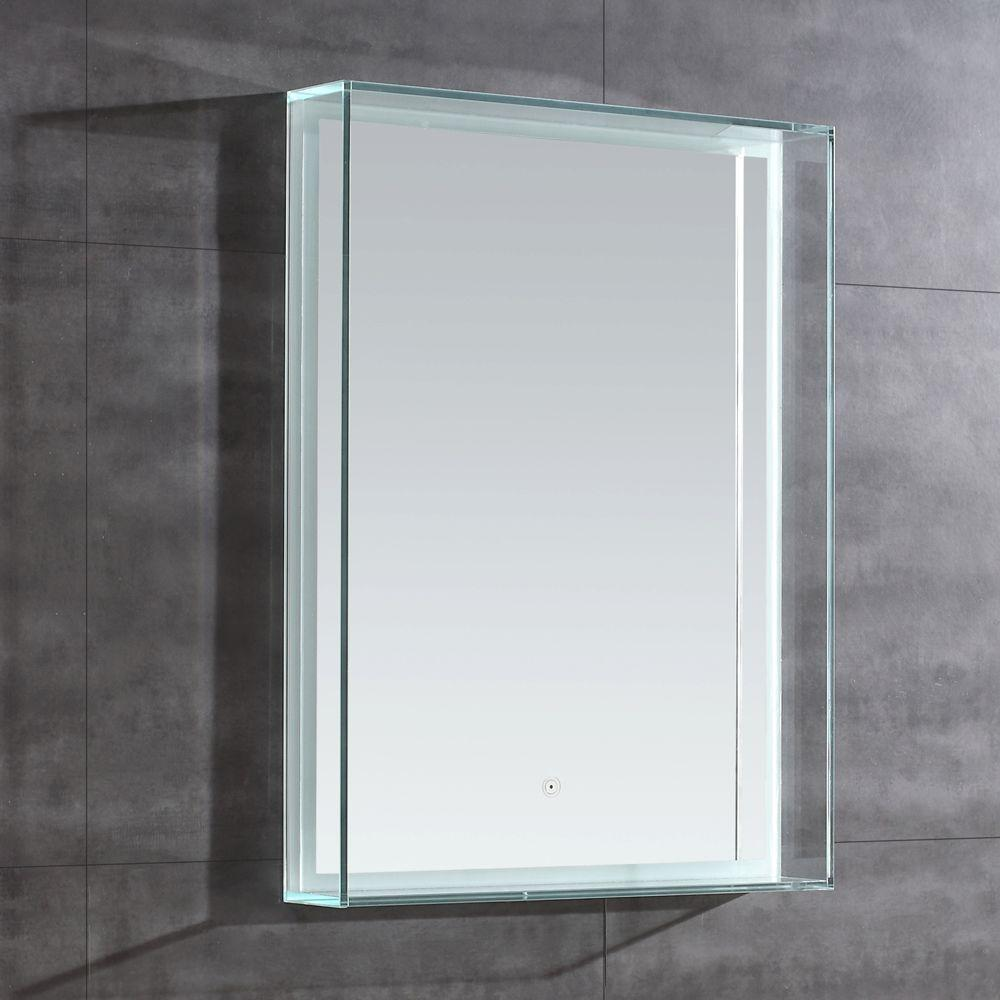 OVE Decors Bowman 31 in. L x 24 in. W Single Wall LED Mirror in Chrome