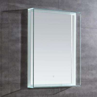31 in. L x 24 in. W Single Wall LED Mirror in Chrome