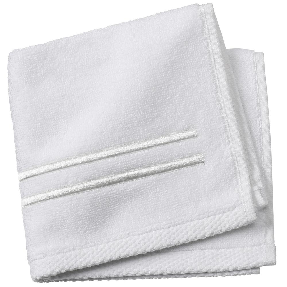 Sardis 1-Piece Face Towel in Pearl