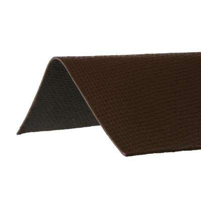 3.29 ft. x 12-1/2 in. Ridge Cap Asphalt Roof Panel in Brown
