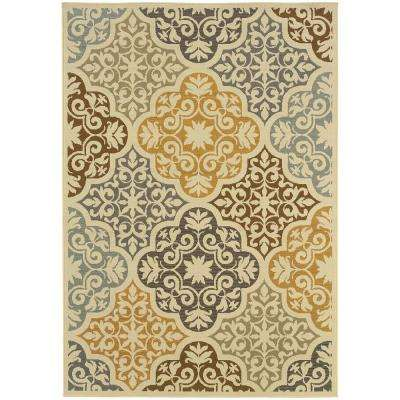 Sumba Beige 7 ft. x 10 ft. Indoor/Outdoor Area Rug