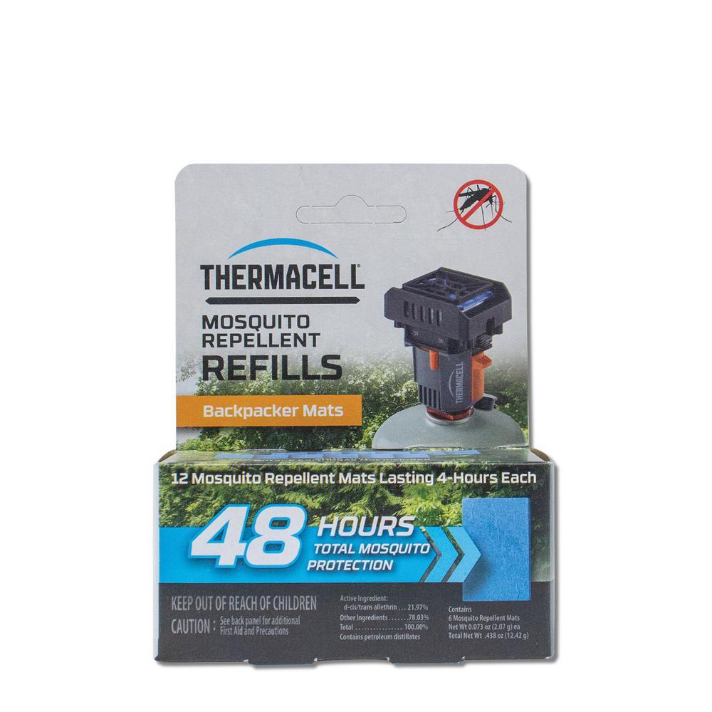 Backpacker Mat-Only Refill 48-Hour Pack (12-Repellent Mats)