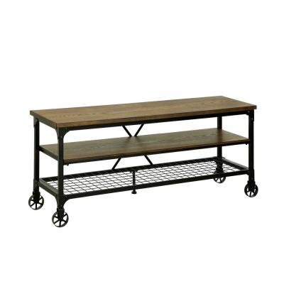 Ventura 54 in. Medium Oak Industrial Style TV Stand