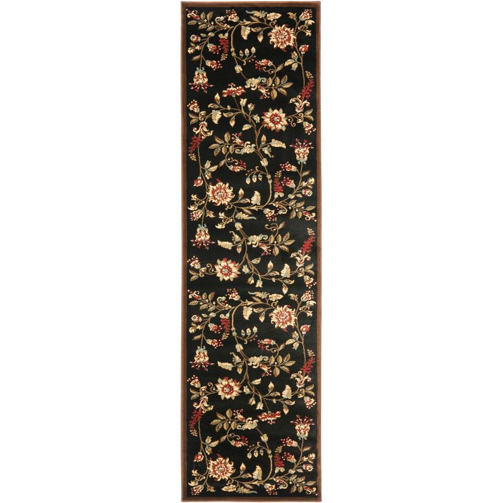 Lyndhurst Black/Multi 2 ft. 3 in. x 8 ft. Runner