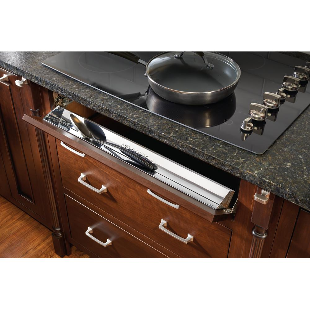 Rev A Shelf 31 In Stainless Steel Tip Out Tray With Sc