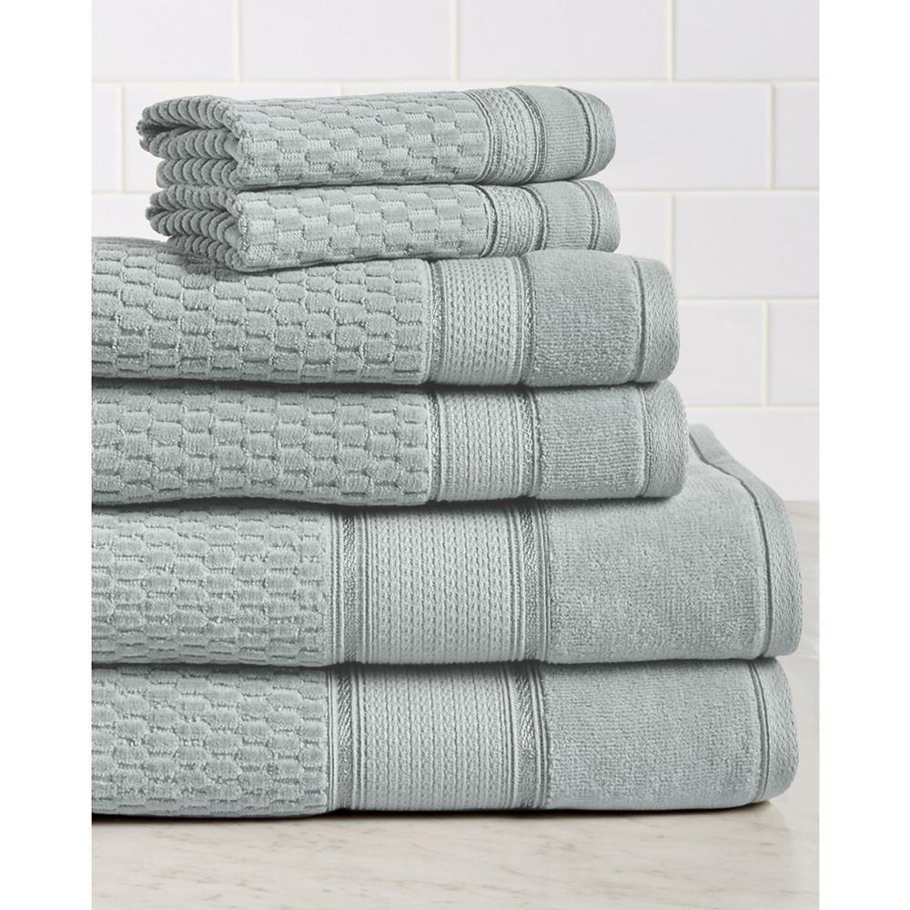 Royale 6-Piece 100% Turkish Cotton Bath Towel Set in Silver