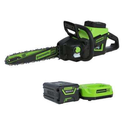 PRO 16 in. 60-Volt Cordless Chainsaw with 2.5 Ah Battery and Charger Included