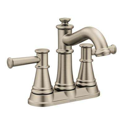 Belfield 4 in. Centerset 2-Handle Bathroom Faucet in Brushed Nickel