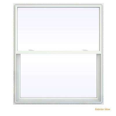 47.5 in. x 47.5 in. V-2500 Series White Vinyl Single Hung Window with Fiberglass Mesh Screen