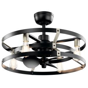 Cavelli 13 in. LED Indoor Satin Black Ceiling Fan with Light with Wall Switch