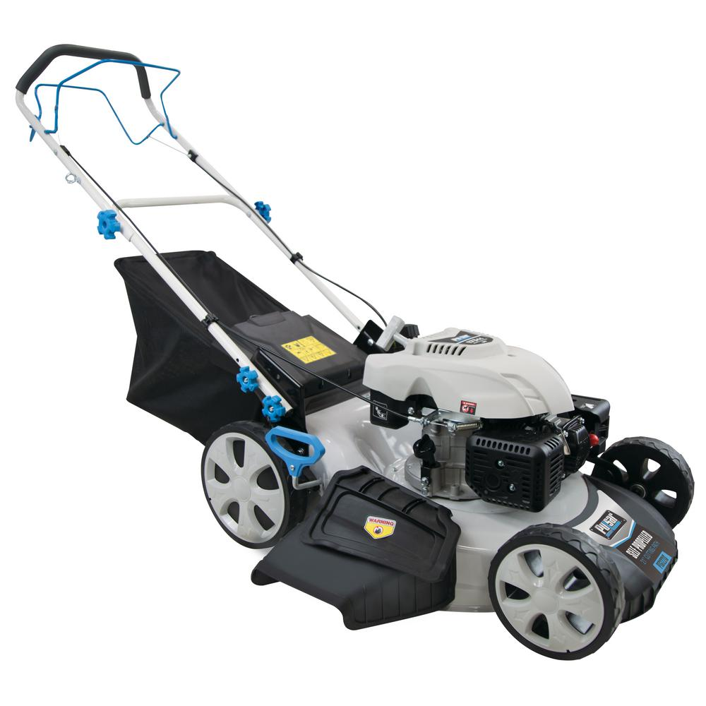 3-in-1 Self-Propelled 22 in. 173cc Gas Recoil Start Walk Behind Lawn