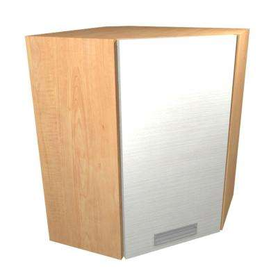 Genoa Ready to Assemble 24 x 30 x 12 in. Angle Corner Wall Cabinet with 1 Soft Close Door in Glacier