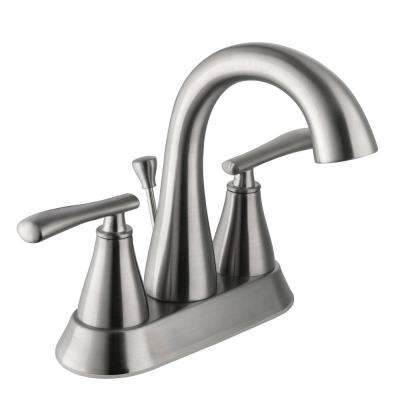Zuri 4 in. Centerset 2-Handle High-Arc Bathroom Faucet in Brushed Nickel