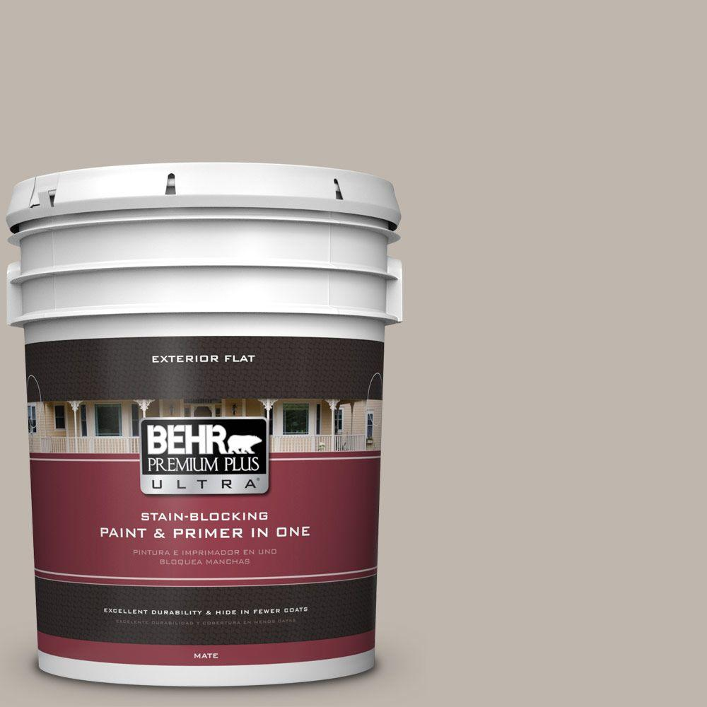 BEHR Premium Plus Ultra Home Decorators Collection 5-gal. #HDC-CT-21 Grey Mist Flat Exterior Paint
