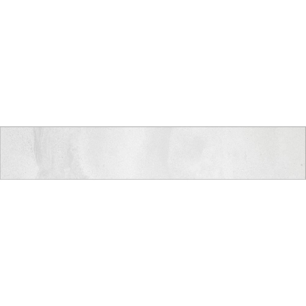 Florida Tile Home Collection Stonewall White 3 in. x 12 in. Porcelain Floor and Wall Bullnose Tile (5 sq. ft. / case)