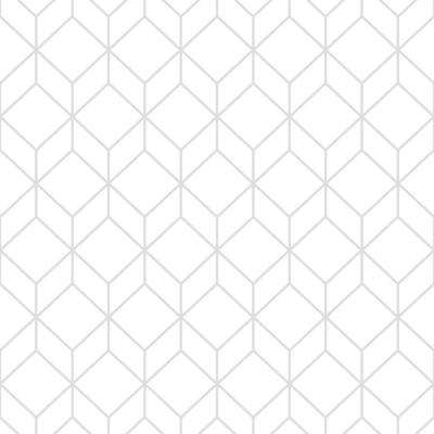 Myrtle Geo White And Silver Removable Wallpaper Sample