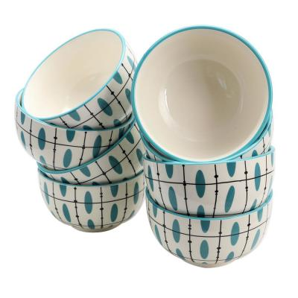 Luminescent Blue Bowl (Set of 8)