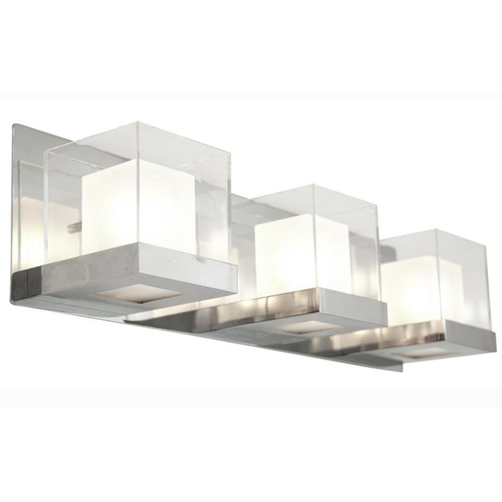 Finland 3-Light Chrome Bath Vanity Light