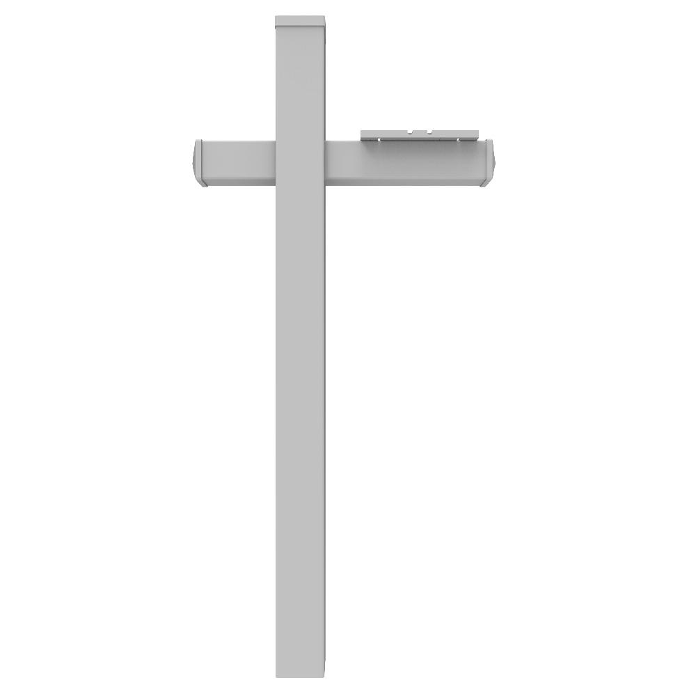 5 in. x 5 in. x 6 ft. White Vinyl Mailbox Fence Post with...