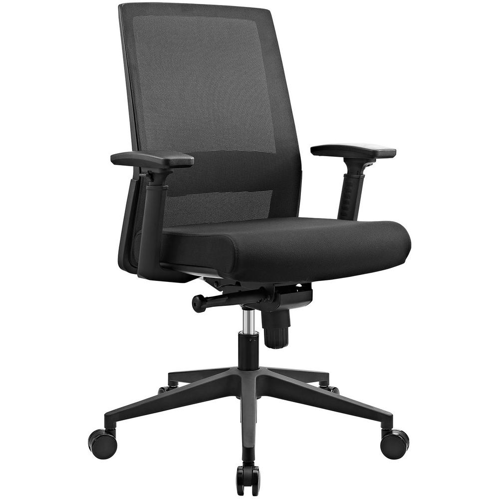 Black Shift Fabric Office Chair