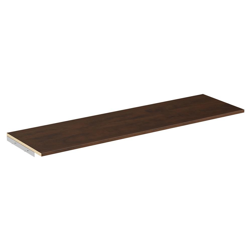 Style+ 48 in. W Chocolate Top Shelf Kit