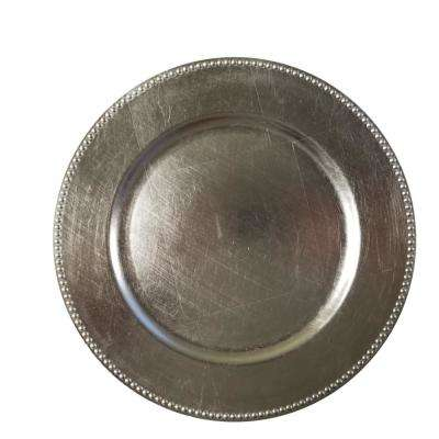 Silver Charger Plate (Set of 4)