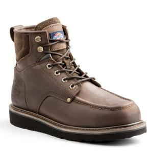 2b12a2e2888 Dickies Outpost Men Size 9.5 Brown Leather Work Boot-DK6222DW95 ...