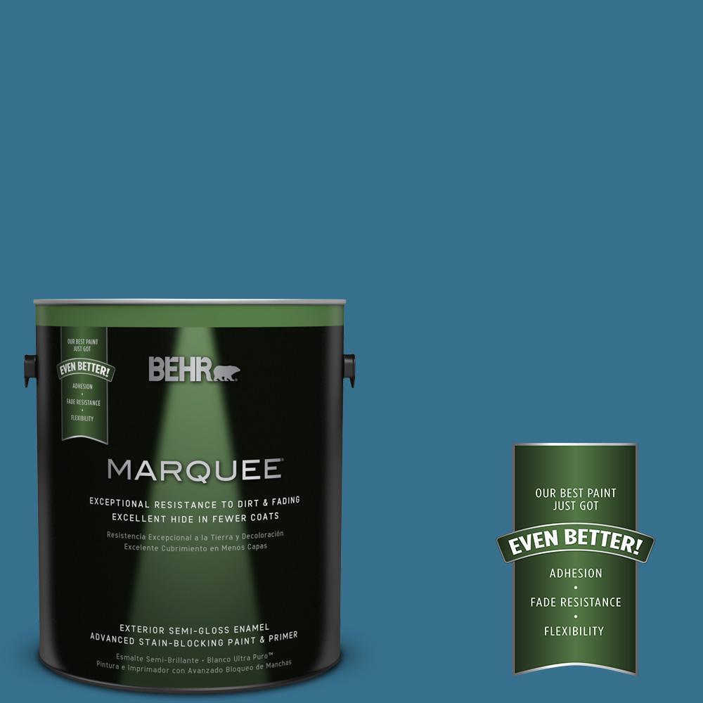 1-gal. #M490-6 Living Stream Semi-Gloss Enamel Exterior Paint